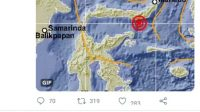 Gempa di Sulawesi Utara, Sulteng Ikut Bergoyang