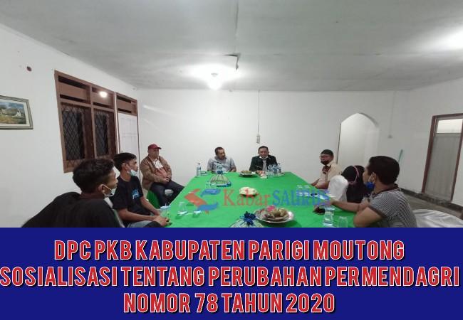Sosialisasi Permendagri 78/2020 oleh Kaban Kesbangpol di Sekretariat DPC-PBB Parigi Moutong