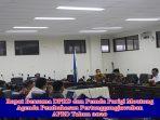 Rapat Bersama Antara DPRD dan Pemda Dengan Agenda Pembahasan LKPJ APBD Parigi Moutong Tahun 2020
