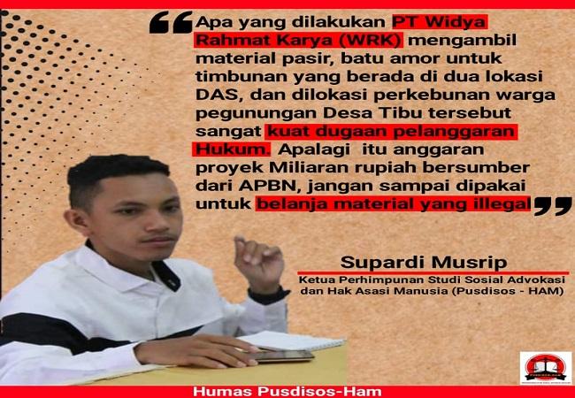 Supardi Musrip, Ketua Pusdisos-HAM