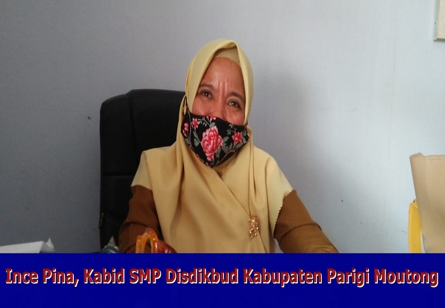 Ince Pina, Kabid SMP Disdikbud Kabupaten Parigi Moutong
